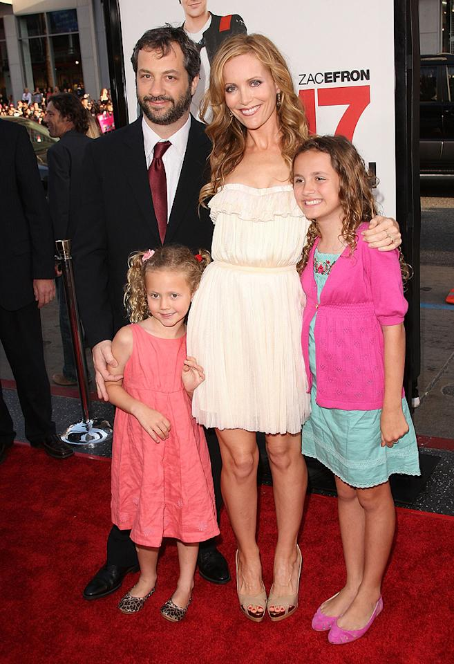 "<a href=""http://movies.yahoo.com/movie/contributor/1804503686"">Judd Apatow</a> and <a href=""http://movies.yahoo.com/movie/contributor/1800018715"">Leslie Mann</a> with daughters <a href=""http://movies.yahoo.com/movie/contributor/1809871257"">Iris Apatow</a> and <a href=""http://movies.yahoo.com/movie/contributor/1809871323"">Maude Apatow</a> at the Los Angeles premiere of <a href=""http://movies.yahoo.com/movie/1810038675/info"">17 Again</a> - 04/14/2009"