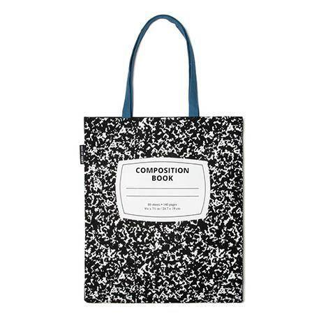 """<p><strong>Out of Print</strong></p><p>outofprint.com</p><p><strong>$1.00</strong></p><p><a href=""""https://outofprint.com/products/composition-notebook-tote"""" rel=""""nofollow noopener"""" target=""""_blank"""" data-ylk=""""slk:Shop Now"""" class=""""link rapid-noclick-resp"""">Shop Now</a></p><p>Everybody remembers the excitement of a new, blank composition book, and this one can be filled with everything your favorite teacher needs to take back and forth to work. It even has an interior pocket.</p>"""