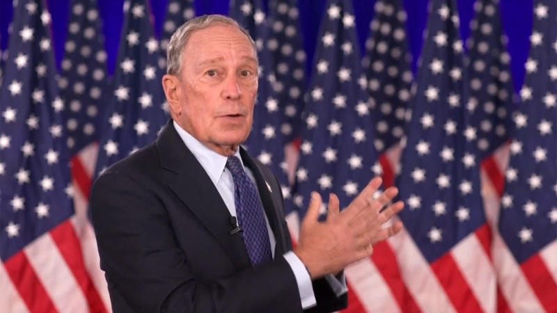 Mike Bloomberg speaks during the virtual Democratic National Convention on August 20, 2020. (via Reuters TV)