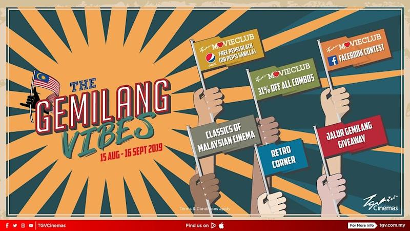 The Gemilang Vibes campaign includes an array of activities such as a Special Retro Corner. — Pix courtesy of TGV Cinemas