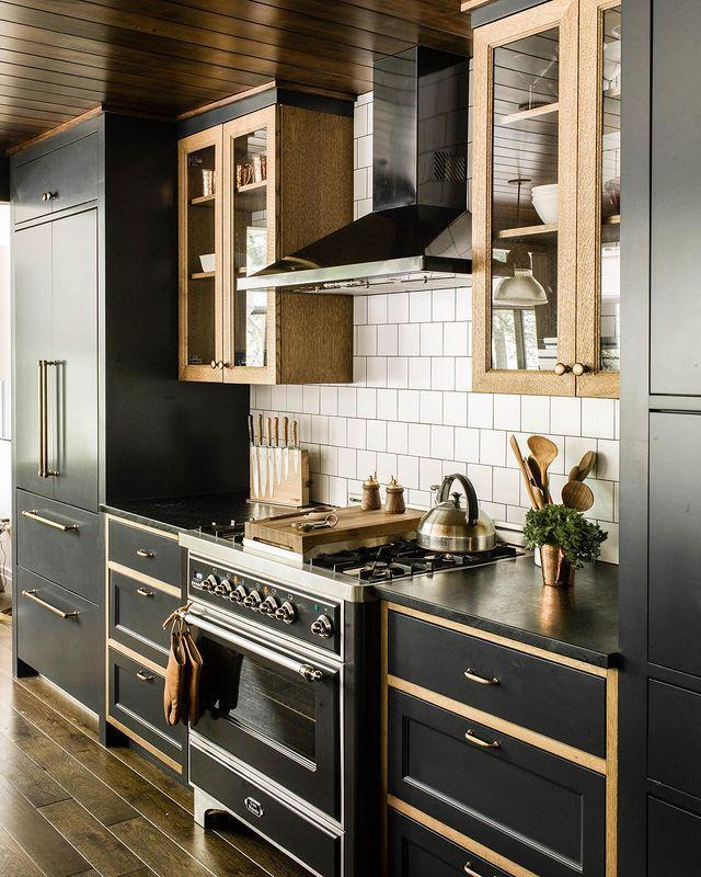"<p>Fancy a moody kitchen? You're right on trend, as gorgeous noir and black shades are hot for 2021, too, says <a href=""https://maureenstevens.com/"" rel=""nofollow noopener"" target=""_blank"" data-ylk=""slk:Maureen Stevens"" class=""link rapid-noclick-resp"">Maureen Stevens</a>, an interior designer in New Orleans. ""In fashion, black is considered classic and can pretty much go with anything; the same goes for interior design,"" she says. You can go big with black quartz countertops or introduce it in a smaller format. The satin brass finish will still hold court in 2021, but black hardware and lighting are very popular again, says Hodor. Don't worry about being too matchy-matchy, either: She's still seeing a lot of mixed metals in kitchens.</p>"