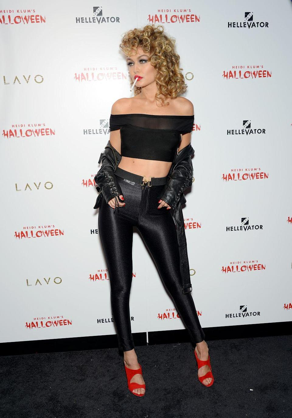 "<p>'Grease' is definitely the word! Model Gigi Hadid stole the show with this stunning post-makeover Sandy costume from <em><a href=""https://www.amazon.com/Grease-Randal-Kleiser/dp/B0026SFEW8/?linkCode=ogi&tag=goodhousekeeping_auto-append-20&ascsubtag=[artid