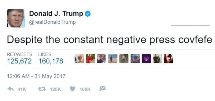 President Trump's deleted tweet.