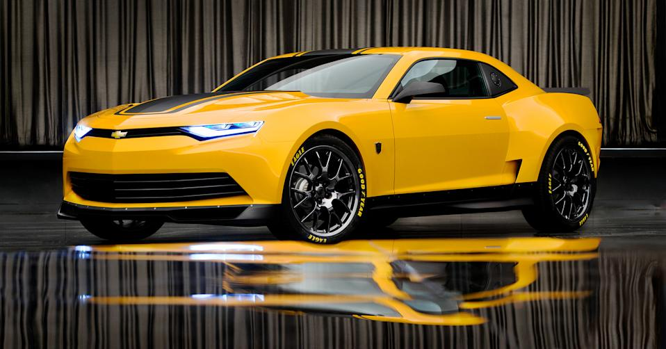 Bumblebee, a 2014 Concept Camaro . . . the final jewel in the Transformers 4 crown.