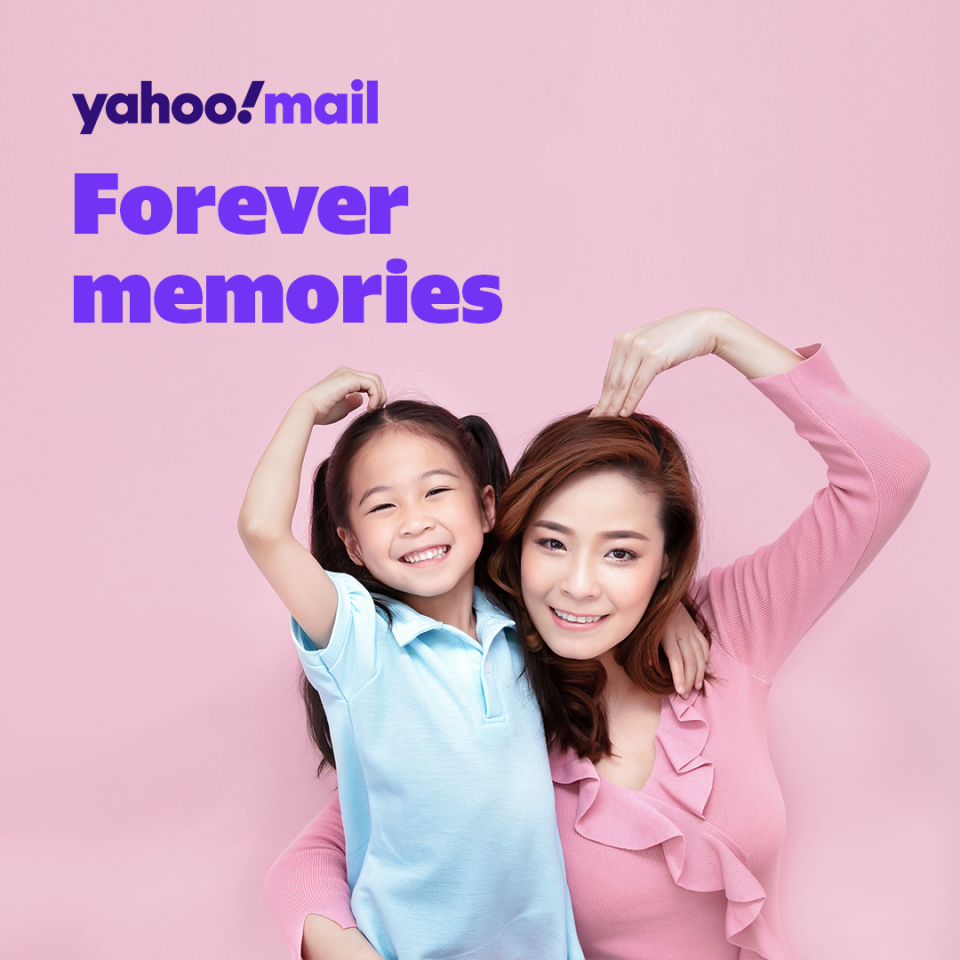 Store your memories forever with Yahoo Mail 6