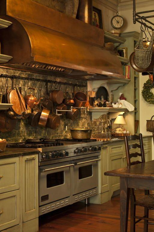 """<p>We can't help but drool overthe commercial-grade <a rel=""""nofollow"""" href=""""http://www.southernliving.com/home-garden/decorating/kitchen-inspiration"""">kitchen</a>. It's as warm and inviting as we imagined.</p>"""