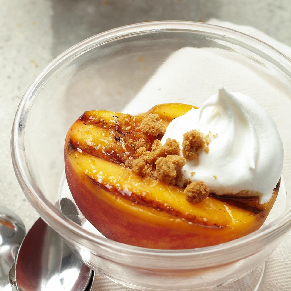 <p>Grilling fruit caramelizes the natural sugars and concentrates the flavors. Served with a balsamic syrup and crushed gingersnaps, this warm, 20-minute peach dessert recipe offers an incredible combination of flavor and texture in each bite.</p>