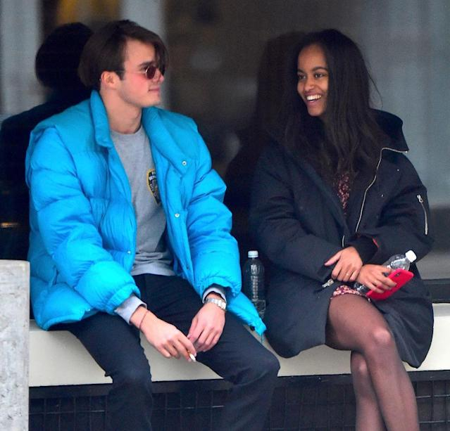 Rory Farquharson and Malia Obama are seen on Jan. 20, 2018, in New York City. (Photo: Alo Ceballos/GC Images)
