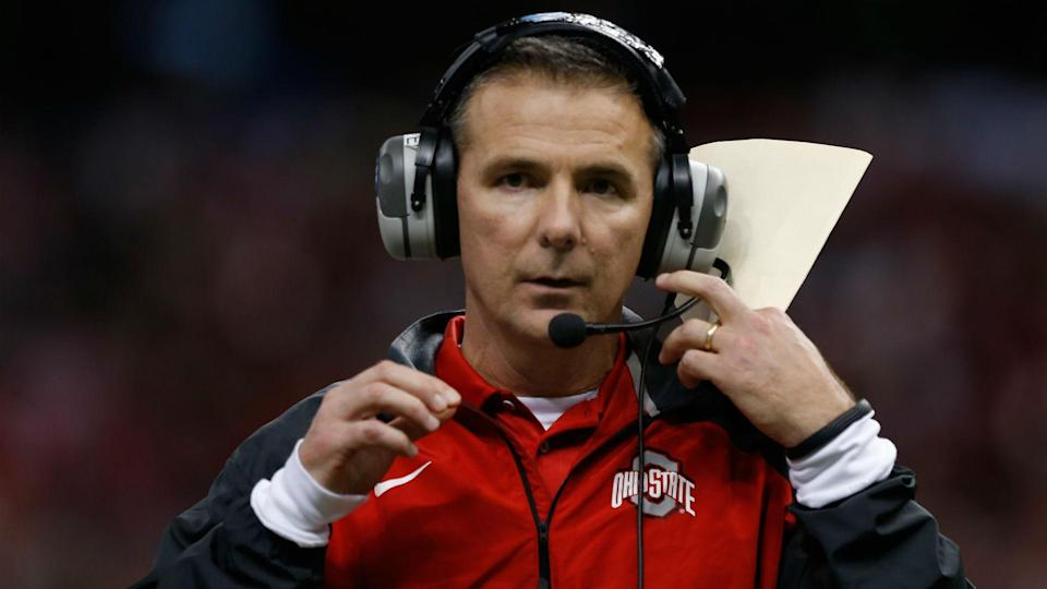 Urban Meyer is on paid administrative leave until the investigation concludes. (AP)