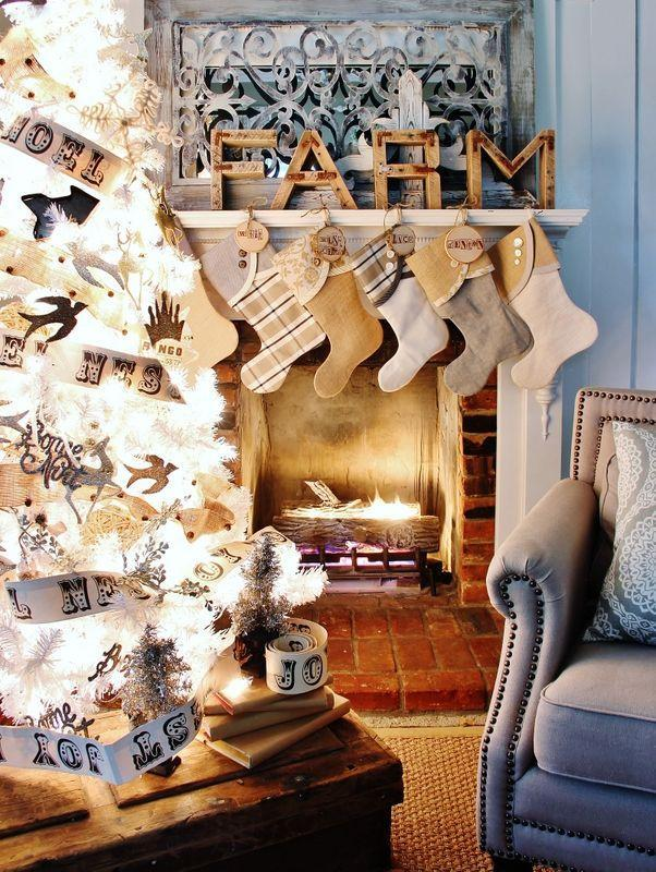 """<p>This holiday, make your stockings extra special, by attaching <a href=""""https://www.amazon.com/Assorted-Decorations-Ornaments-Super-Outlet/dp/B01FRDI8EY/?tag=syn-yahoo-20&ascsubtag=%5Bartid%7C10050.g.1407%5Bsrc%7Cyahoo-us"""" rel=""""nofollow noopener"""" target=""""_blank"""" data-ylk=""""slk:wood slices"""" class=""""link rapid-noclick-resp"""">wood slices</a> and stamping each letter of your name. These name tags will add a warm cozy touch to your holiday decor.</p><p><strong>Get the tutorial at <a href=""""http://www.thistlewoodfarms.com/diy-wood-christmas-stocking-tags-and-the-2014-thistlewood-stocking-collection"""" rel=""""nofollow noopener"""" target=""""_blank"""" data-ylk=""""slk:Thistlewood Farms"""" class=""""link rapid-noclick-resp"""">Thistlewood Farms</a>.</strong></p><p><strong><a class=""""link rapid-noclick-resp"""" href=""""https://www.amazon.com/Assorted-Decorations-Ornaments-Super-Outlet/dp/B01FRDI8EY/?tag=syn-yahoo-20&ascsubtag=%5Bartid%7C10050.g.1407%5Bsrc%7Cyahoo-us"""" rel=""""nofollow noopener"""" target=""""_blank"""" data-ylk=""""slk:SHOP WOOD SLICES"""">SHOP WOOD SLICES</a><br></strong></p>"""
