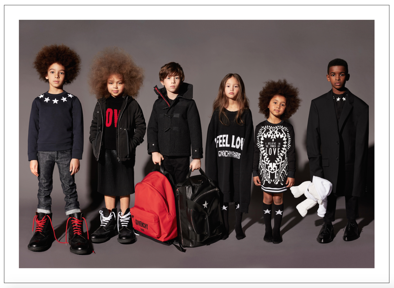 <p>Follow in the footsteps of North West with Givenchy's new childrenswear line. Iconic piece from the house including star-printed knits and streetwear bombers have been recreated for kids aged 0-12 years. A selection of couture looks will also be available for special occasions. Prices start at £65 and range up to around £250. From July 2017.<br /><i>[Photo: Givenchy]</i> </p>