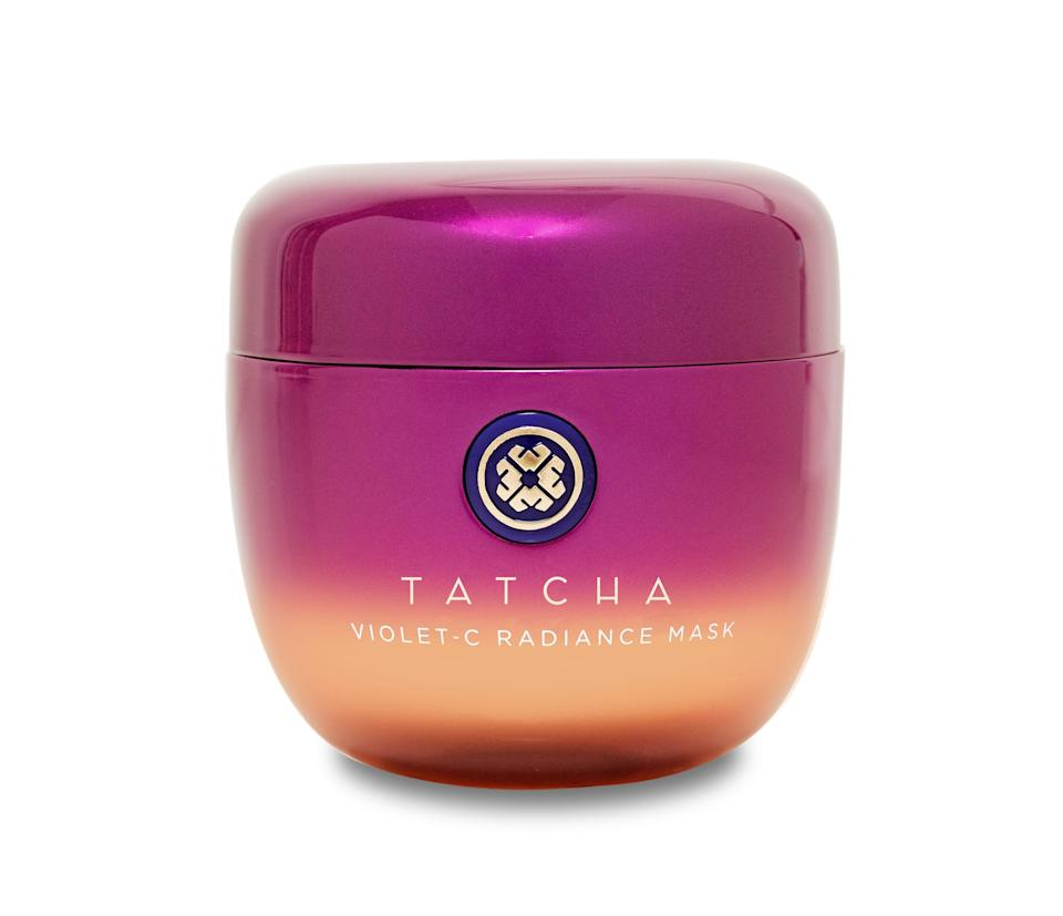 """<p><strong>Tatcha</strong></p><p>tatcha.com</p><p><strong>$54.40</strong></p><p><a href=""""https://go.redirectingat.com?id=74968X1596630&url=https%3A%2F%2Fwww.tatcha.com%2Fproduct%2Fviolet-c-radiating-mask%2FCH03011T.html&sref=https%3A%2F%2Fwww.harpersbazaar.com%2Fbeauty%2Fskin-care%2Fg37611110%2Ftatcha-friends-family-sale%2F"""" rel=""""nofollow noopener"""" target=""""_blank"""" data-ylk=""""slk:Shop Now"""" class=""""link rapid-noclick-resp"""">Shop Now</a></p><p>Consider dark spots a thing of the past after using this (literally) violet facial mask that combines two types of <a href=""""https://www.harpersbazaar.com/beauty/skin-care/g27482223/vitamin-c-serums/"""" rel=""""nofollow noopener"""" target=""""_blank"""" data-ylk=""""slk:vitamin C"""" class=""""link rapid-noclick-resp"""">vitamin C</a> and fruit-based alpha hydroxy acids to brighten discoloration. We hear this mask is part of Saweetie's routine. </p>"""