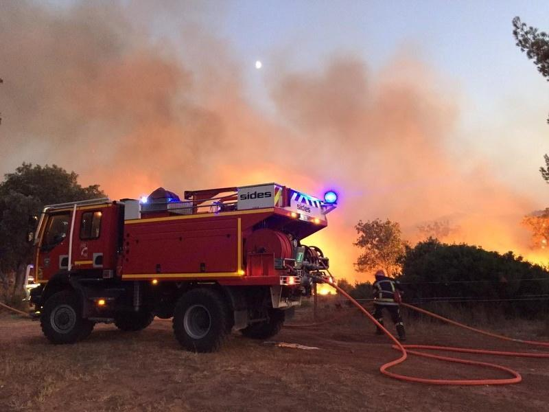 Wildfire n the Var region of southern France