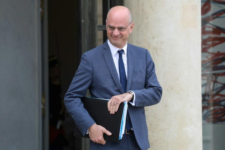 Le ministre de l'Education nationale Jean-Michel Blanquer le 7 mai 2019 à Paris
