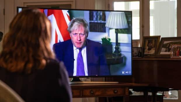 British Prime Minister Boris Johnson speaks with CBC chief political correspondent Rosemary Barton on Friday. Canada and the United Kingdom completed a transitional trade agreement in November, after Britain withdrew from the European Union. (Mathieu Theriault/CBC - image credit)
