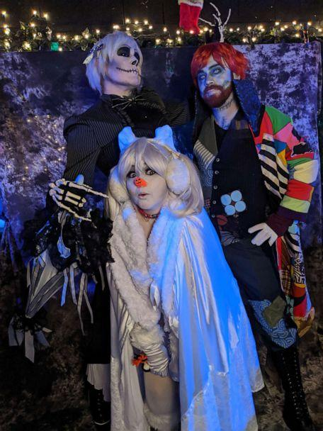 PHOTO: Jack Skellington, Sally and Zero, center, make an appearance at the festival. (Courtesy of Kei Hoffmann)