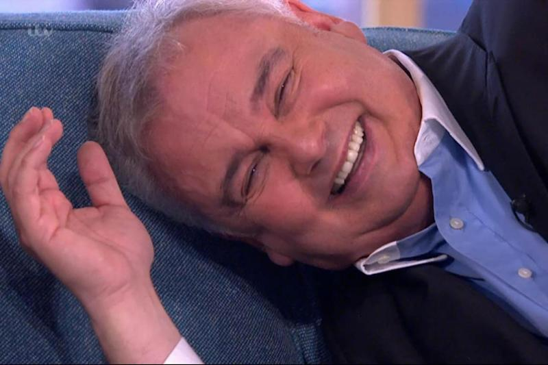 Speechless: Eamonn Holmes was left in fits of giggles (ITV)