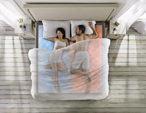 The DualTemp layer has two wireless remotes so each sleeper can adjust their side to their ideal tem ...