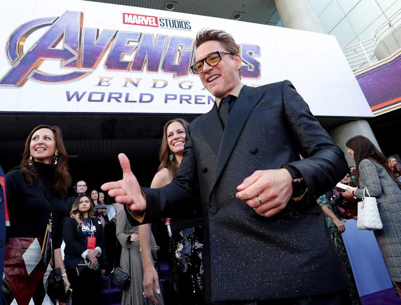 "Cast member Robert Downey Jr., arrives on the red carpet at the world premiere of the film ""The Avengers: Endgame"" in Los Angeles, California, April 22, 2019. REUTERS/Mario Anzuoni TPX IMAGES OF THE DAY"