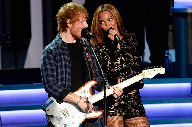 Ed and Beyonce have performed together in the past. Copyright: [Rex]