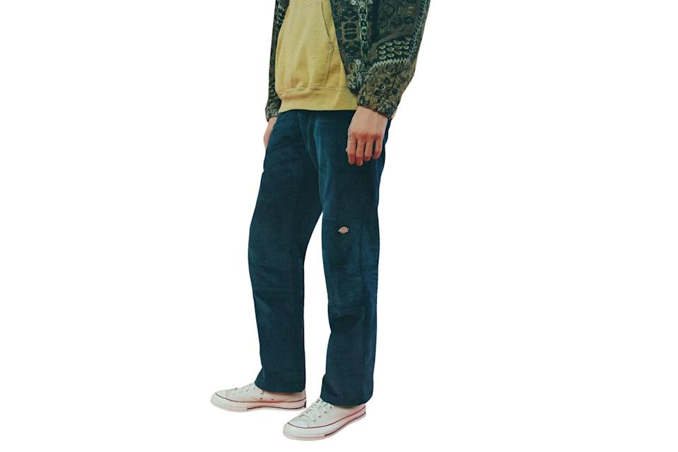 """$99, Urban Outfitters. <a href=""""https://www.urbanoutfitters.com/shop/dickies-uo-exclusive-corduroy-double-knee-pant?category=mens-clothing-sale&color=041&type=REGULAR&quantity=1&size=30"""" rel=""""nofollow noopener"""" target=""""_blank"""" data-ylk=""""slk:Get it now!"""" class=""""link rapid-noclick-resp"""">Get it now!</a>"""
