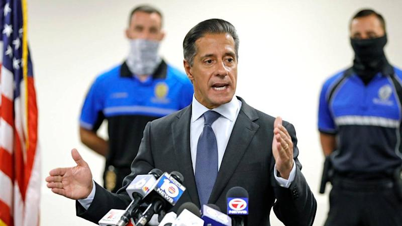 Miami-Dade Schools Superintendent Alberto Carvalho speaks at a press conference about cyberattacks that marred the virtual start of school on Aug. 31, 2020.