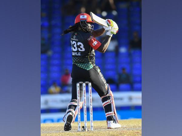Chris Gayle in action (Photo/ CPL Twitter)
