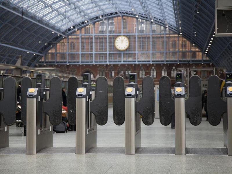 Railway ticket barriers could soon be replaced with digital technology that detects you're there: Getty