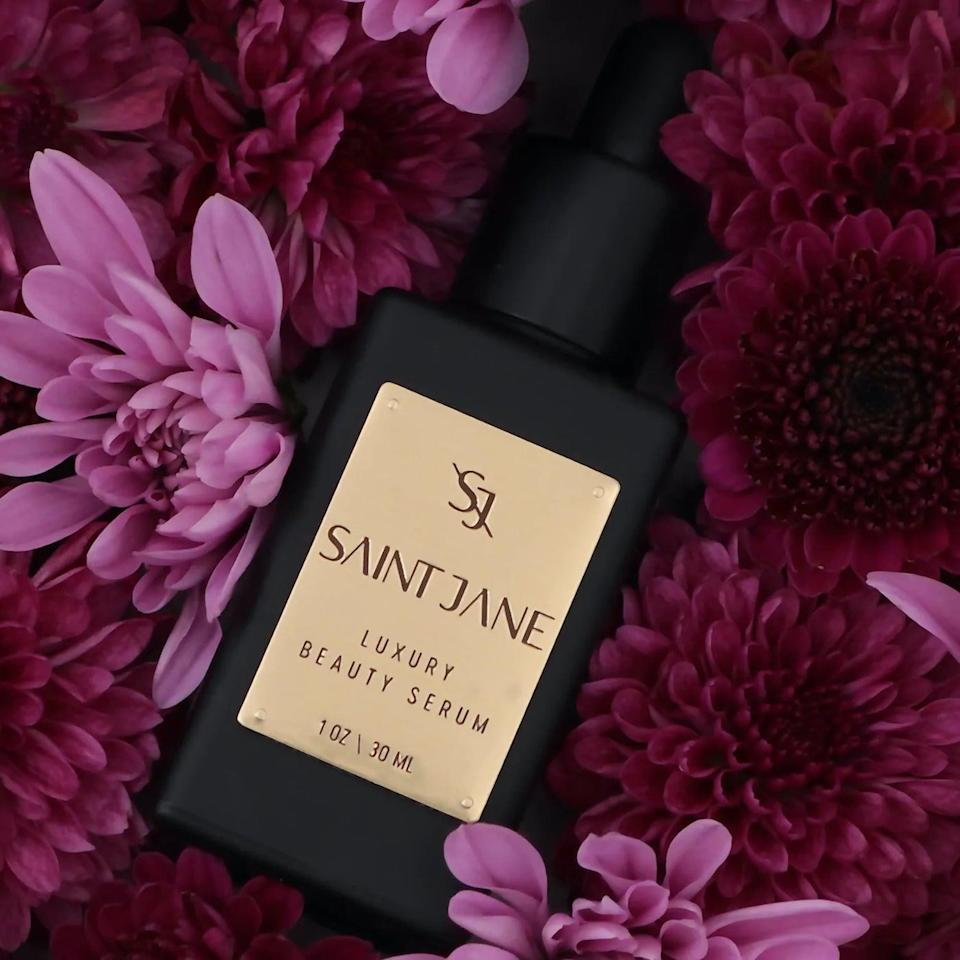 """<p><span>Saint Jane Beauty Luxury CBD Beauty Serum</span> ($125) stands out because of the high dosage in the product: 500 mg of full-spectrum CBD that's quadruple lab-tested, <a href=""""https://www.popsugar.com/beauty/sustainable-beauty-products-at-sephora-46879910"""" class=""""link rapid-noclick-resp"""" rel=""""nofollow noopener"""" target=""""_blank"""" data-ylk=""""slk:sustainably sourced"""">sustainably sourced</a>, and organically grown. It's no surprise that it's a bestseller, too, as it adds in other powerful ingredients to help restore your face's natural glow like sea buckthorn and rosehip (to encourage cell turnover) and cold-pressed grapeseed oil (which is a powerful source of omegas, antioxidants, and vitamins to soothe and even skin tone).</p>"""