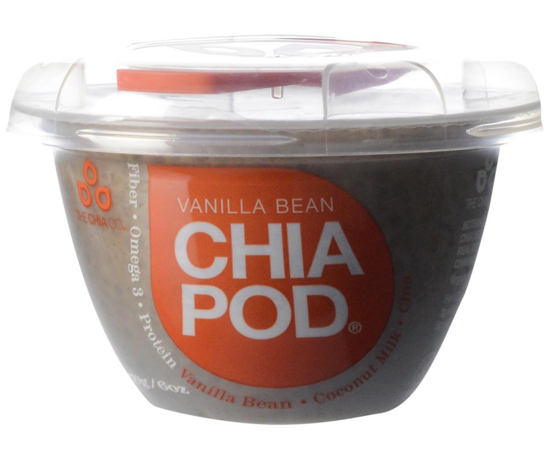 "<p>""Chia seeds provide both fiber and protein, and when soaked as they are in chia pudding, they become infinitely more satisfying. You can easily <a rel=""nofollow"" href=""http://mariamarlowe.com/2016/12/coconut-chia-seed-pudding/"">make your own chia seed pudding</a>, mixing almond or coconut milk with chia seeds, but store-bought versions offer an easy, on-the-go alternative. Top it with fresh fruit for more nutrients and fiber.""</p>  <p>Maria's Pick: <a rel=""nofollow"" href=""https://www.amazon.com/Chia-Co-Pod-Vanilla-Bean/dp/B00MIOBUBY/ref=as_li_ss_tl?s=amazonfresh&ie=UTF8&qid=1490122134&sr=1-1-spell&ppw=fresh&keywords=chiapod&linkCode=sl1&tag=mariamarlowe-20&linkId=f2c7939f10d48b7fd59ea752bc571a50"">ChiaPod Vanilla Chia Pudding</a></p>"