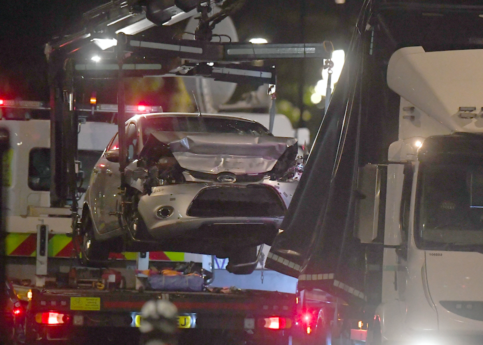 <em>The car used in the attack has now been recovered by police (PA)</em>