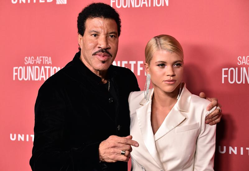 BEVERLY HILLS, CA - NOVEMBER 09: Honoree Lionel Richie (L) and Sofia Richie attend the SAG-AFTRA Foundation Patron of the Artists Awards 2017 at the Wallis Annenberg Center for the Performing Arts on November 9, 2017 in Beverly Hills, California. (Photo by Frazer Harrison/Getty Images)