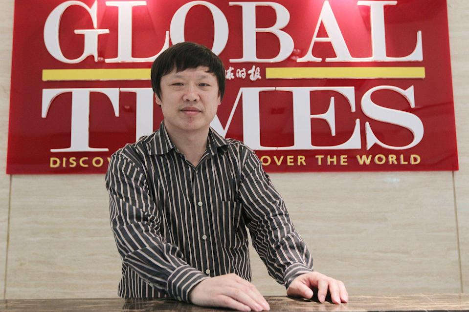 "Hu Xijin, shown in 2011, the Global Times editor-in-chief, said that the growth in followers in his personal Twitter account had slowed dramatically since the platform labelled him as ""China state-affiliated media"". Photo: Simon Song"