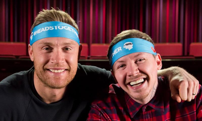 Freddie Flintoff (left) and Stephen Manderson (aka Professor Green)