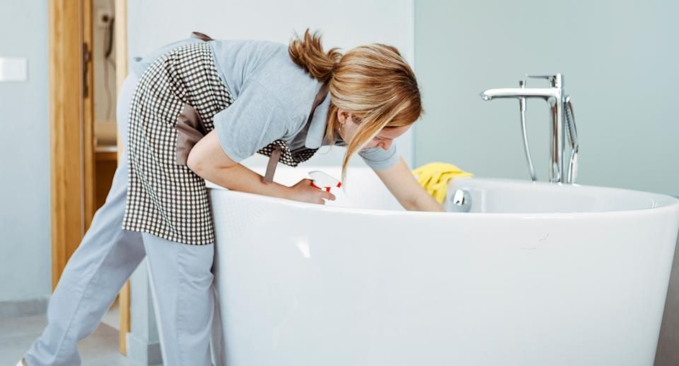 Hate cleaning the bathroom? We found just the tool you need. (Getty Images)