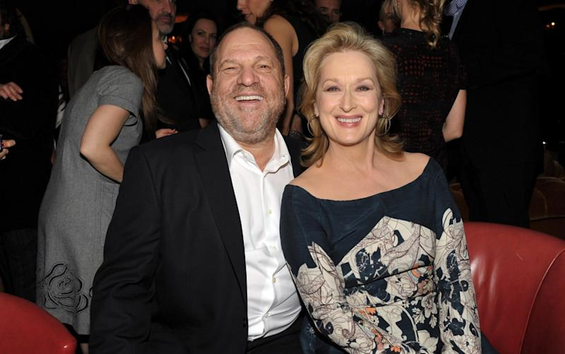 Harvey Weinstein (L) and actress Meryl Streep attend the Australian Academy Of Cinema And Television Arts International Awards Ceremony at Soho House on January 27, 2012 in West Hollywood, California - WireImage