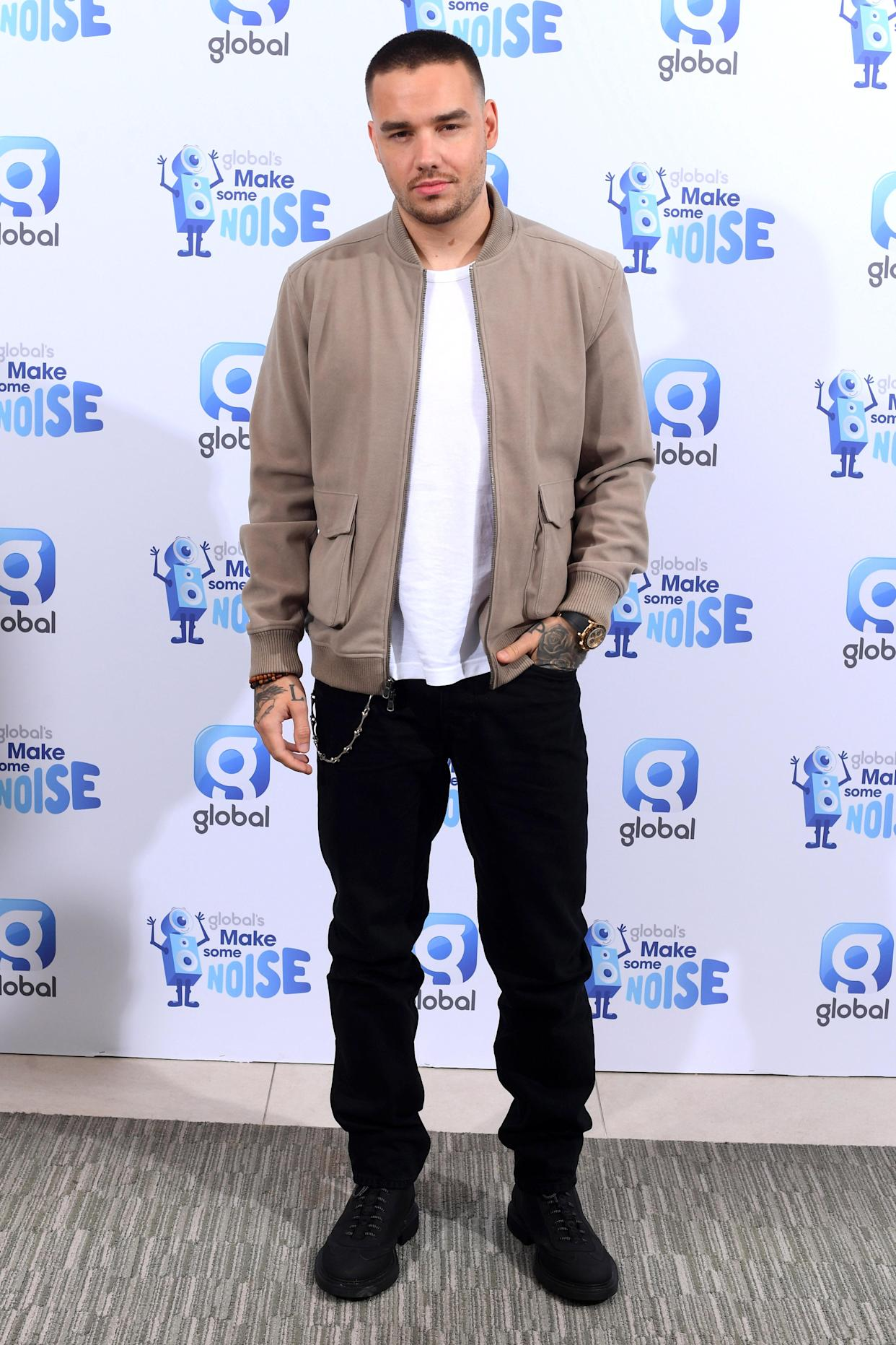 London, UK. 8 October 2021. Liam Payne pictured at the Global studios in Leicester Square, to support Global's Make Some Noise Charity Day. Picture date: Friday October 8, 2021. Photo credit should read: Matt Crossick/Empics