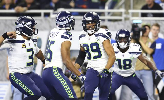 "The <a class=""link rapid-noclick-resp"" href=""/nfl/teams/sea"" data-ylk=""slk:Seattle Seahawks"">Seattle Seahawks</a> wide receivers will have room to run against the <a class=""link rapid-noclick-resp"" href=""/nfl/teams/lar"" data-ylk=""slk:Los Angeles Rams"">Los Angeles Rams</a> defense. (AP Photo/Rey Del Rio)"