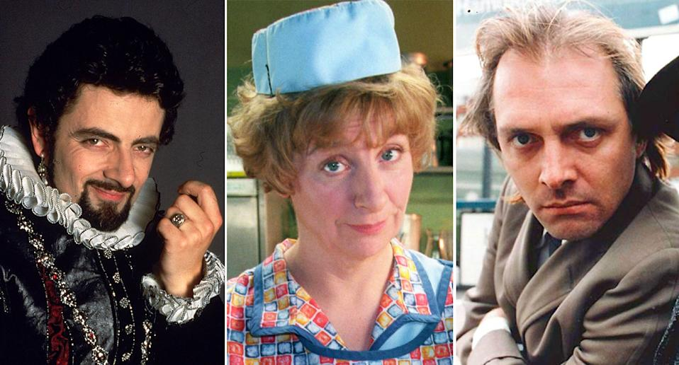 <i>Blackadder, Dinnerladies, Bottom</i>.