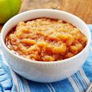 """<p>No standing over the stove and stirring with this insanely easy applesauce! We like ours on the less-sweet side, but if you're finding yours a little too tart, you can always stir in more sugar after they've been cooked. </p><p>Get the <a href=""""https://www.delish.com/uk/cooking/recipes/a33120665/instant-pot-applesauce-recipe/"""" rel=""""nofollow noopener"""" target=""""_blank"""" data-ylk=""""slk:Instant Pot Applesauce"""" class=""""link rapid-noclick-resp"""">Instant Pot Applesauce</a> recipe.</p>"""