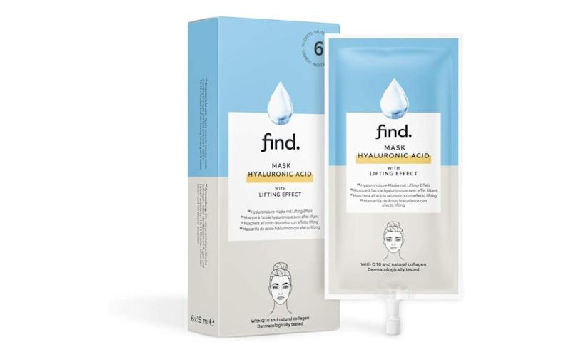 FIND - Maschera all'acido ialuronico con effetto lifting, 6 unità x 15 ml