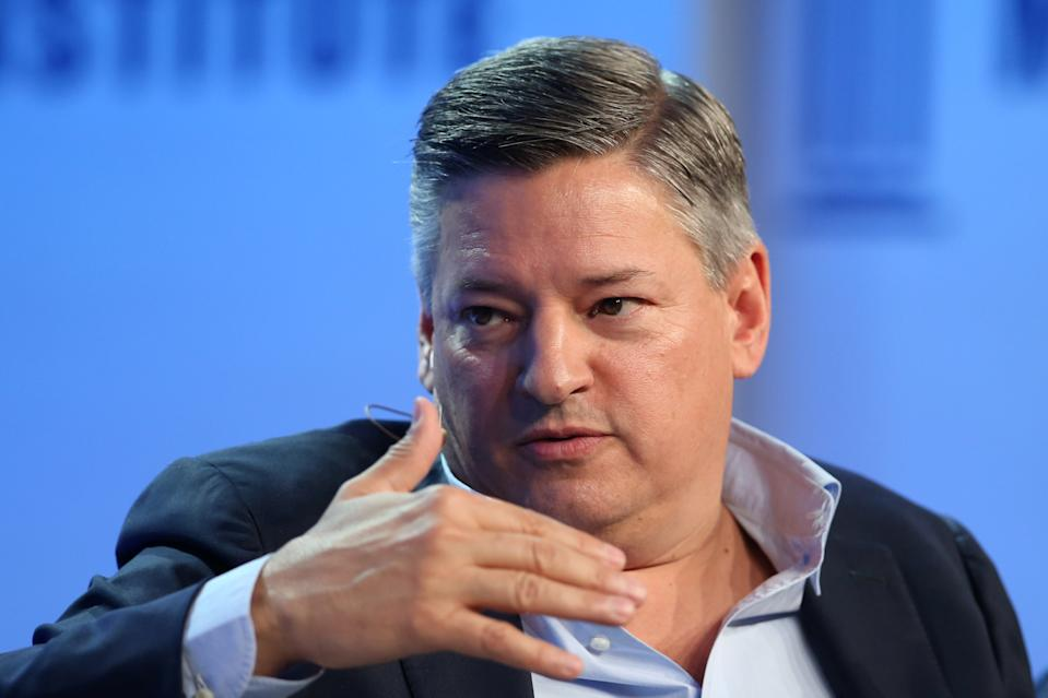 Ted Sarandos, Chief Content Officer, Netflix, speaks during the Milken Institute Global Conference in Beverly Hills, California, U.S., May 3, 2017. REUTERS/Lucy Nicholson