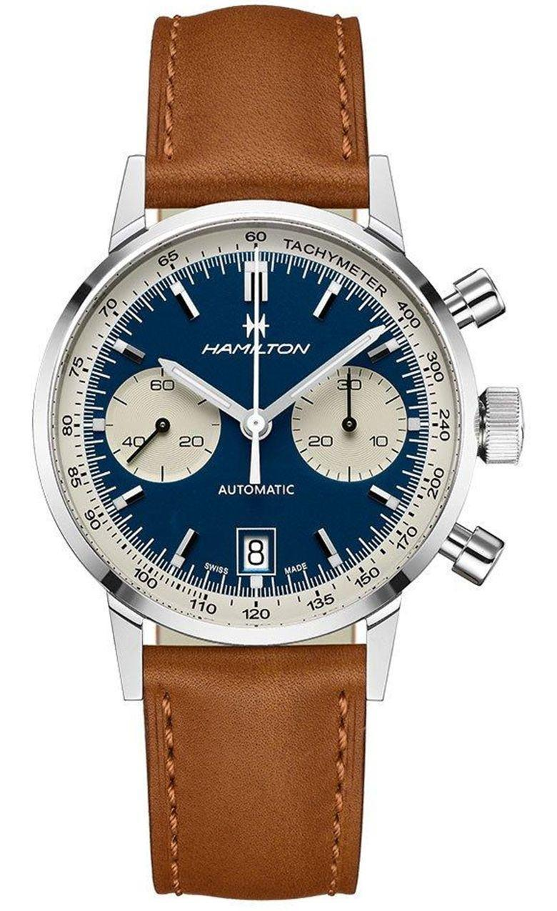 """<p>American Classic Intra-Matic </p><p><a class=""""link rapid-noclick-resp"""" href=""""https://go.redirectingat.com?id=127X1599956&url=https%3A%2F%2Fwww.hamiltonwatch.com%2Fen-gb%2Fh38416541-intra-matic.html&sref=https%3A%2F%2Fwww.menshealth.com%2Fuk%2Fstyle%2Fwatches%2Fg35332587%2Fbest-mens-watche1%2F"""" rel=""""nofollow noopener"""" target=""""_blank"""" data-ylk=""""slk:SHOP"""">SHOP</a></p><p>Once upon a time, the industry wasn't centred in Switzerland. American manufacturing had a stake in the watch business too, rigging small town Main Street aesthetics with big impressive movements. Hamilton was at the forefront.</p><p>Now, it's re-released a 1968 archival piece for 2020. It's got impressive Swiss innards these days, yes, but in terms of what's on the outside, very little has changed. And that's a good thing. For all the opulence and extravagance of a diamond-laden automatic from the Jura, there's as much charm in an 'aw shucks' midwestern sensibility.</p><p>£1,930; <a href=""""https://go.redirectingat.com?id=127X1599956&url=https%3A%2F%2Fwww.hamiltonwatch.com%2Fen-gb%2Fh38416541-intra-matic.html&sref=https%3A%2F%2Fwww.menshealth.com%2Fuk%2Fstyle%2Fwatches%2Fg35332587%2Fbest-mens-watche1%2F"""" rel=""""nofollow noopener"""" target=""""_blank"""" data-ylk=""""slk:hamiltonwatch.com"""" class=""""link rapid-noclick-resp"""">hamiltonwatch.com</a></p>"""