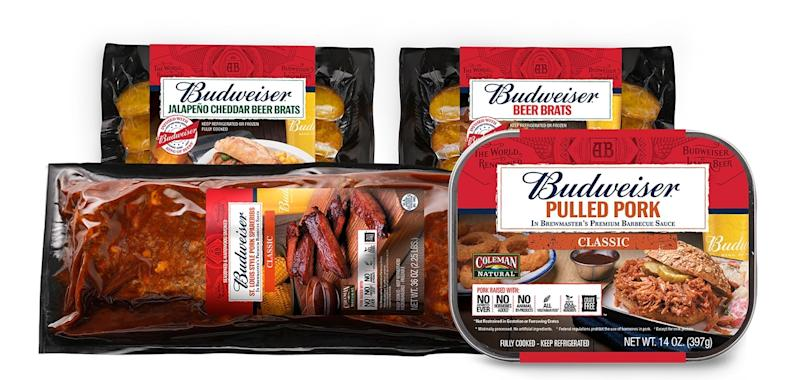 New Budweiser line of beer-infused pork products