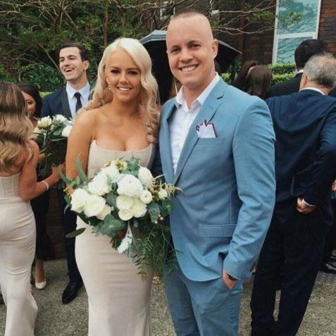 Johnny explained that he cheekily stopped Tahnee from catching a flying bouquet at a recent wedding they attended. Source: Instagram/johnny_ruffo