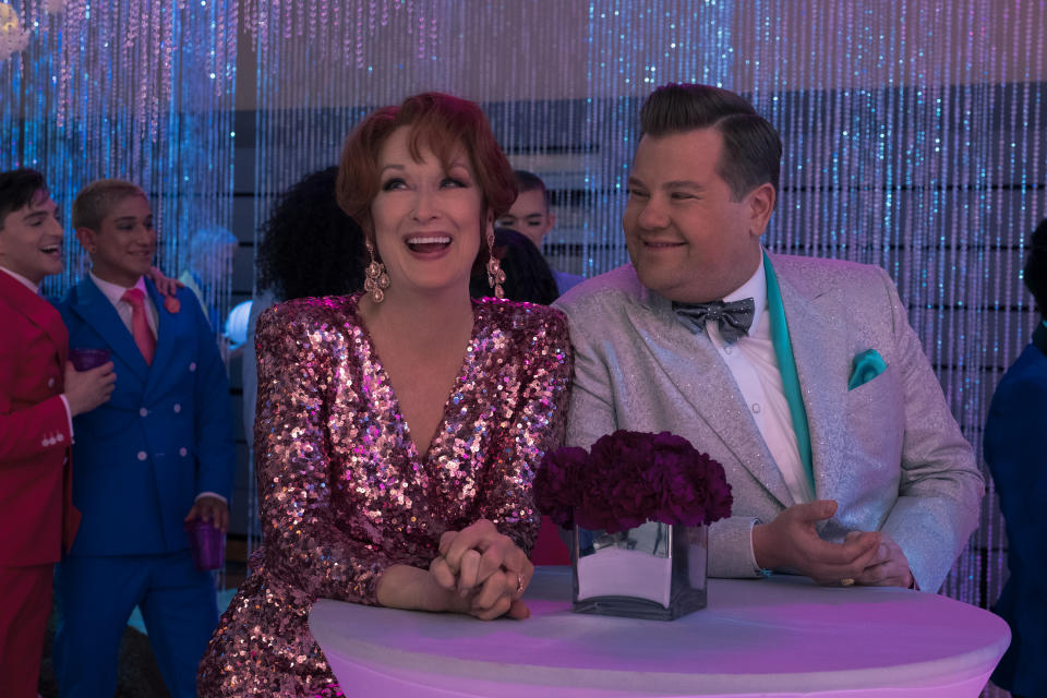 Meryl Streep and James Corden in 'The Prom' (Photo: Melinda Sue Gordon/Netflix)