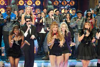 The 'Sing-Off' groups joined forces for a creepy Halloween number (Lewis Jacobs/NBC)