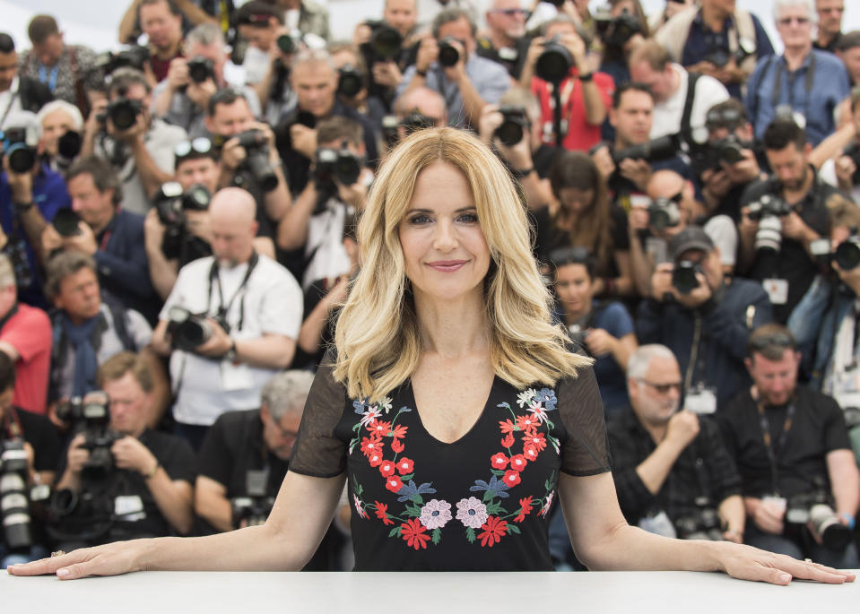 Actress Kelly Preston poses for photographers during a photo call for the film 'Gotti' at the 71st international film festival, Cannes, southern France, Tuesday, May 15, 2018. (Photo by Arthur Mola/Invision/AP)