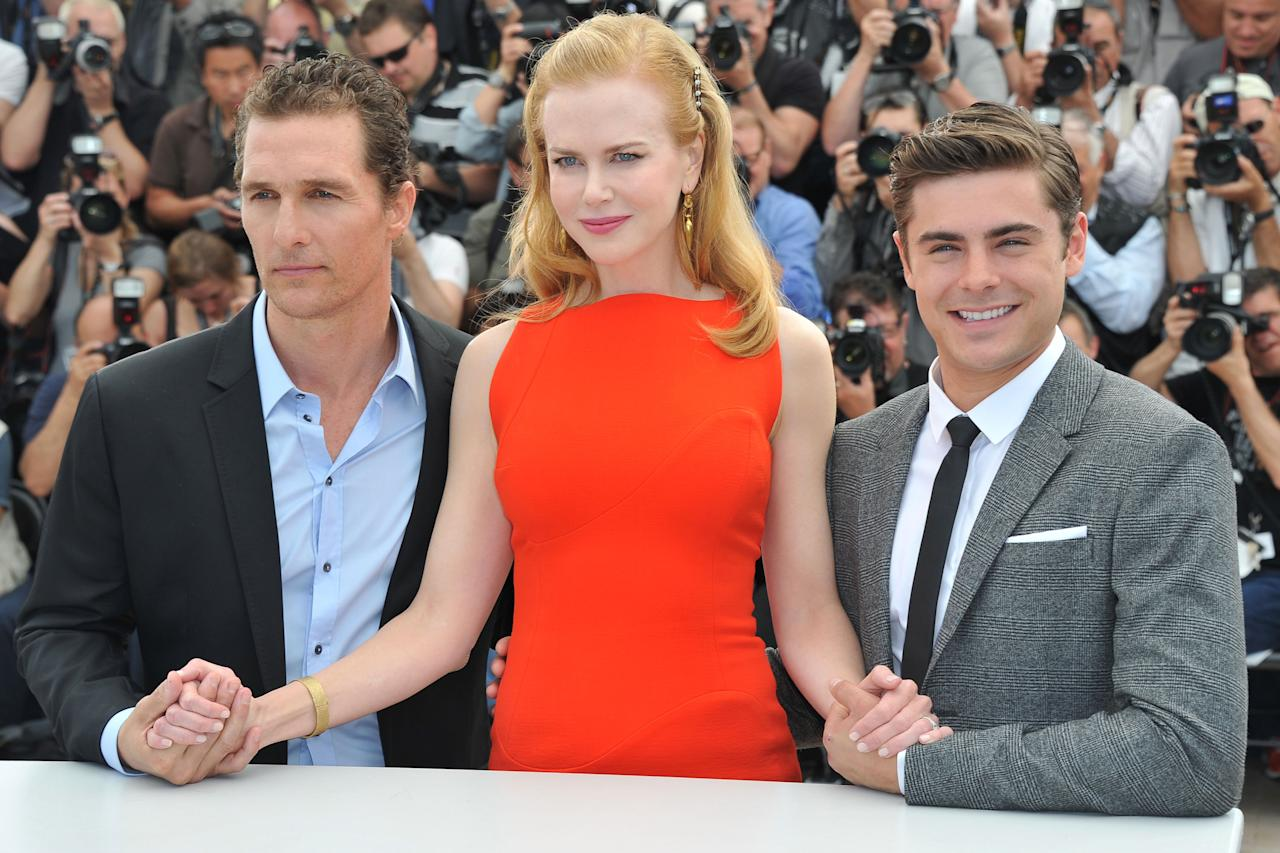 "CANNES, FRANCE - MAY 24:  Actors Matthew McConaughey, Nicole Kidman and Zac Efron attend the ""The Paperboy"" photocall during the 65th Annual Cannes Film Festival at Palais des Festivals on May 24, 2012 in Cannes, France.  (Photo by Pascal Le Segretain/Getty Images)"