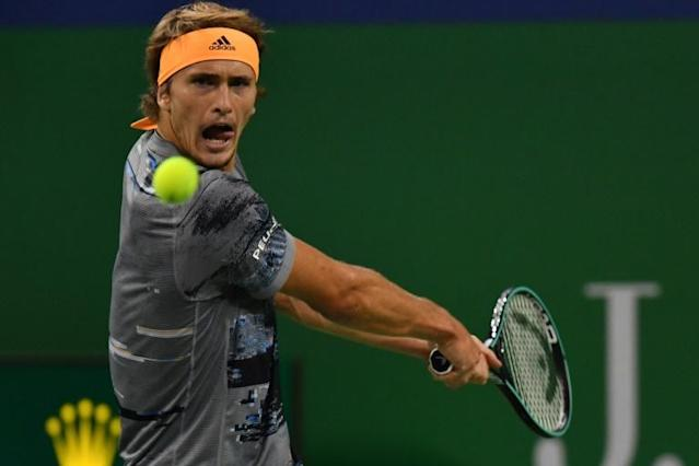 Alexander Zverev of Germany was no match for Russian Daniil Medvedev in the final of the Shanghai Masters tennis tournament (AFP Photo/HECTOR RETAMAL)